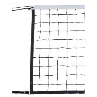 Filet volley compétition 9.50x1M PE tressé 3mm simple maille 100 câble acier Sporti France