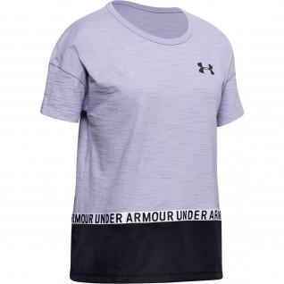T-shirt fille en coton griffé Under Armour Charged