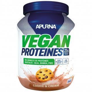 Protéine Vegan Apurna Cookie and cream - Pot 600g