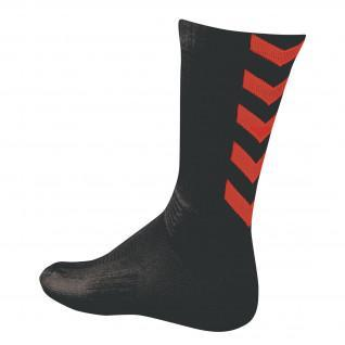 Chaussettes Hummel Authentic Indoor - Noir/rouge