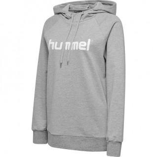 Sweatshirt femme Hummel go logo