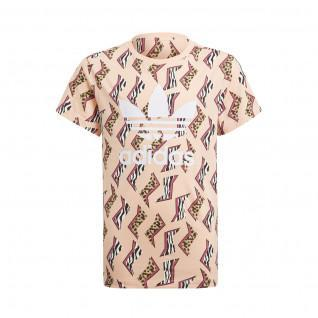 T-shirt fille adidas Originals All-Over Print