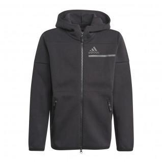 Sweatshirt zippé à capuche enfant adidas Z.N.E.