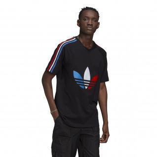 T-shirt Adidas tricolore logo trèfle