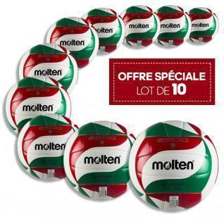 Lot de 10 ballons d'entraînement Molten BVL-V5M2501-L