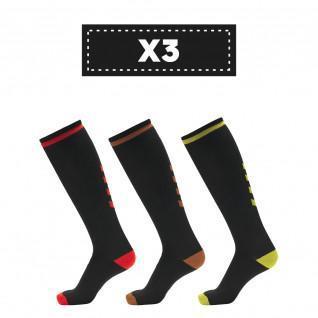 Lot de 3 paires de chaussettes foncées Hummel Elite Indoor high (coloris au choix)