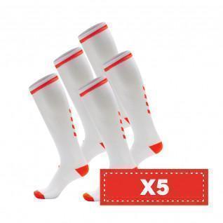 Lot de 5 paires de chaussettes claires Hummel Elite Indoor high