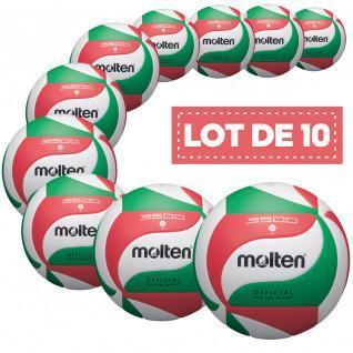 Lot de 10 ballons d'entrainement Molten V5M3500
