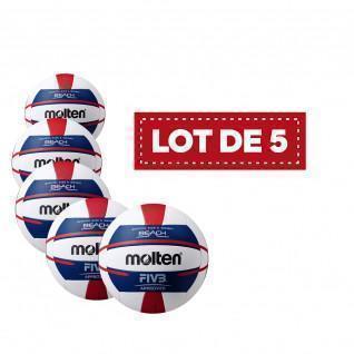 Lot de 5 Ballons femme Beach-volley Molten V5b5000