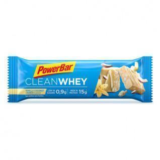 Lot de 18 barres PowerBar Clean Whey - Vanilla Coconut Crunch