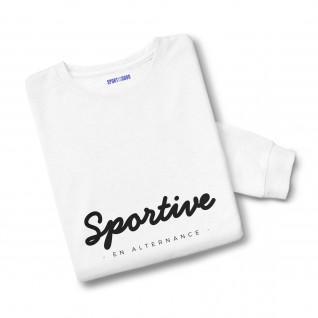 Sweatshirt femme Sportive en alternance